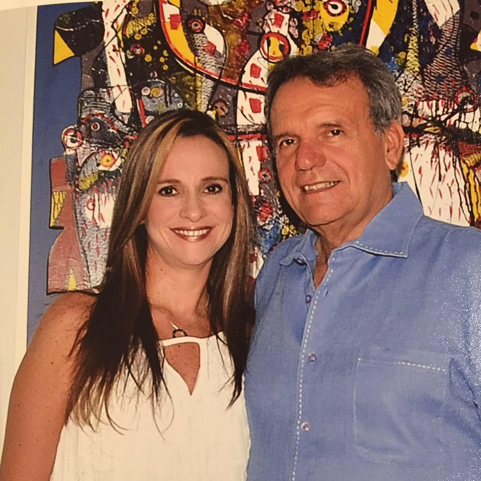 Carlos Cabrera con su hija Luz Helena.